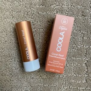 COOLA Mineral LipLux Tinted Lip Balm - Coral Reef
